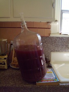 Pre-siphoning. The wine clarified nicely.