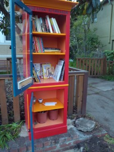 Books on top and seeds below!